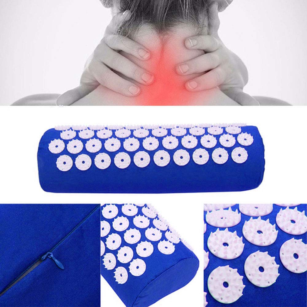 Acupressure Mat,Bed Grounding Mat Acupuncture Needles Back and Neck Pain Relief for Yoga and Travel,Relieves Stress,Lower Back Pain Relief (Blue) by Aquapro (Image #3)