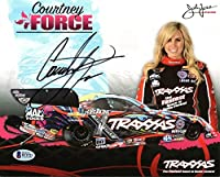 Courtney Force NHRA Drag Racing Autographed 8x10 Photo - Beckett Authentic from Sports Collectibles