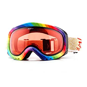 e4b4f4ed03 EnzoDate Transition Lens Photochromic Ski Snowboard Snow Goggles Anti-fog UV  Protection All Weather Night Vision Sunny Day Men Women  Amazon.co.uk   Sports   ...