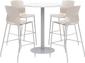 Olio Designs Dining Room Furniture, Designer White Table, Moonbeam Stools