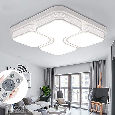 MYHOO 48W LED Regulable Luz de techo Diseño de moda moderna plafón,Lámpara de Bajo Consumo Techo para Dormitorio,Cocina,oficina,Lámpara de sala de ...