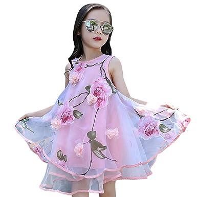 1ed3d5558090c Ywoow Kids Clothes Women's Dresses Flower Princess Dress Pageant ...