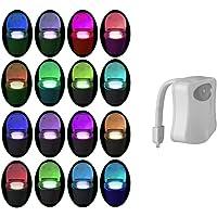 Toilet Nachtlampje PIR Motion Geactiveerd Toilet Licht Sensor LED Wasruimte Nachtlampje Binnen Toliet Lamp 8/16 Kleur…