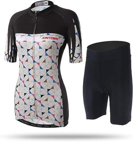 Unkoo Ciclismo Jersey Mujer Bicicleta Mountain Road MTB Manga Corta Manga Corta Camisa Transpirable Montar Tops y Pantalones Cortos Trajes Camisetas Racing Ropa Ciclismo Jersey Ropa Deportiva al Aire: Amazon.es: Deportes y