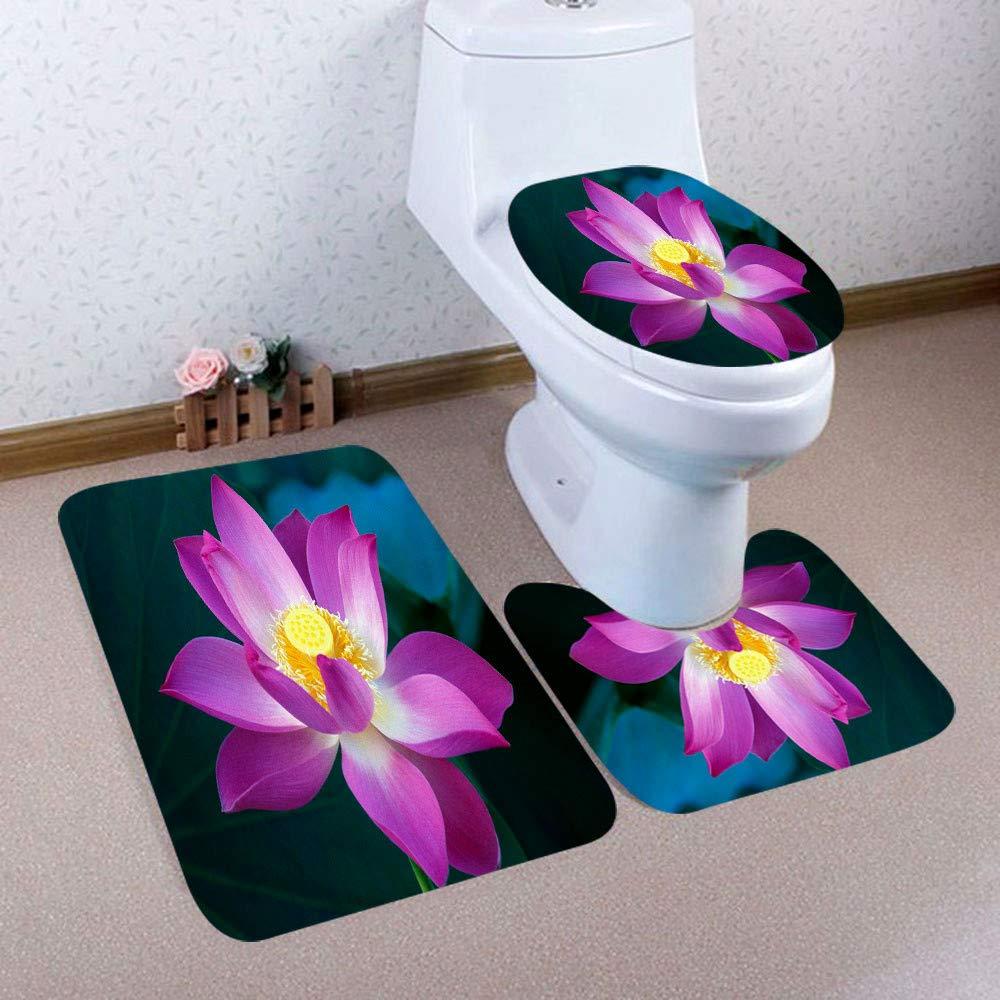 Avocado Fruit Bathroom Rugs Set 3 Piece Bath Rugs Mats Non-Slip Bathroom Cushion Pad Including Bath Pad,Pedestal Mat,Toilet Seat Lid Cover