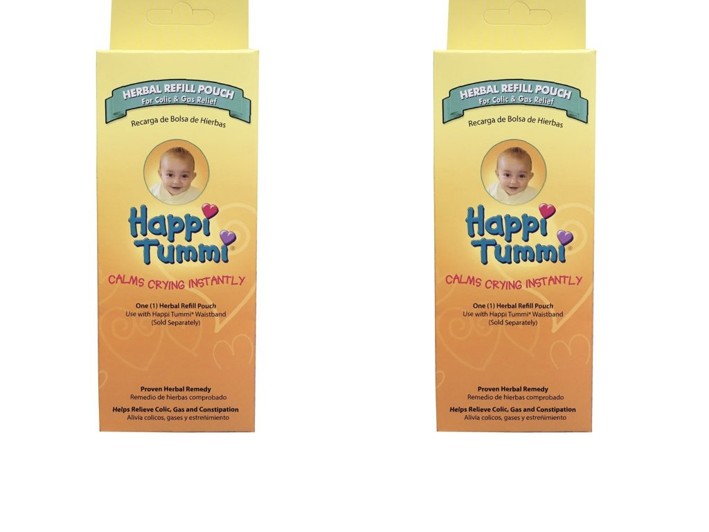 Amazon.com: Happi Tummi Herbal Refill Pack - Relief for Infants and Babies with Colic, Gas, and Upset Tummies (2 Pack): Health & Personal Care