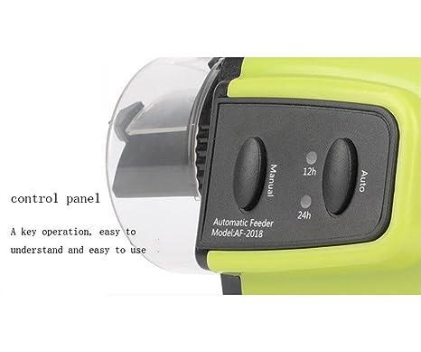 WYXIN Fish Feeder Dispensador de alimentos automático programable con pantalla LCD: Amazon.es: Productos para mascotas