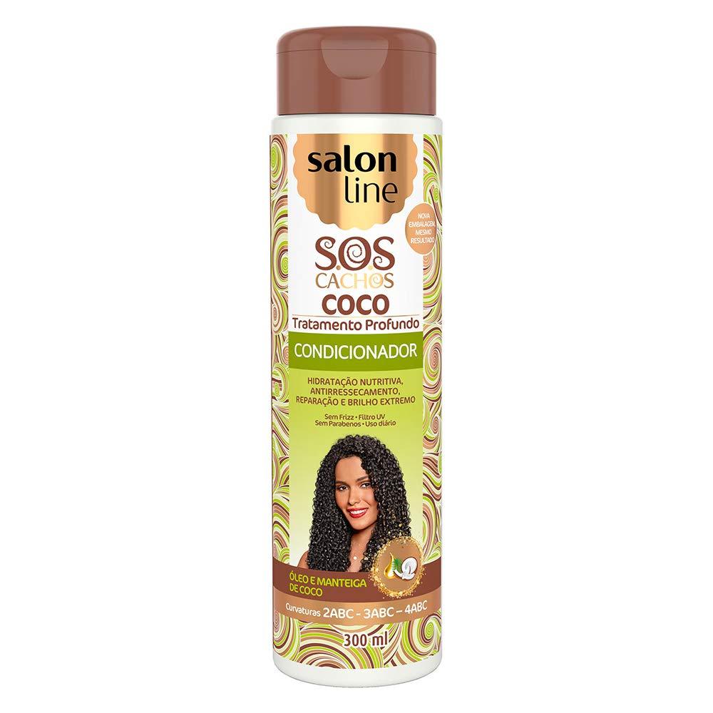 Linha Tratamento (SOS Cachos) Salon Line - Condicionador Coco 300 Ml - (Salon