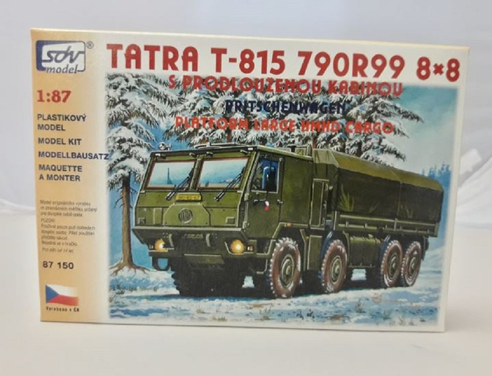 Modellbau Kunststoff Modellbausatz LKW Truck Tatra T 815 790R99 8 x 8 Pritschenwagen SDV 1:87 H0 SDV CZ Fahrzeuge & Schiffe