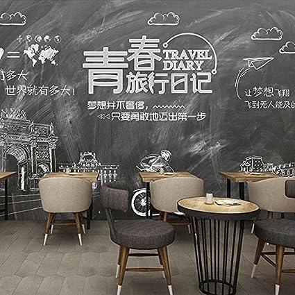 Poowef 3D Wallpaper Papel Tapiz 3D Personalidad Retro 励 ...