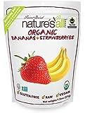 Nature's All Foods Organic Freeze Dried Raw Bananas & Strawberries -- 1.8 oz