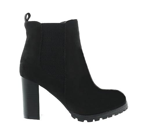 King Of Shoes Botines Mujer, Color Negro, Talla 36: Amazon.es: Zapatos y complementos