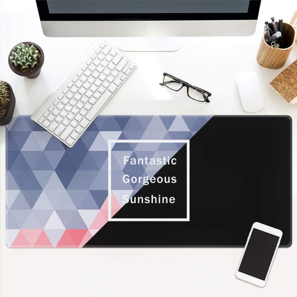 Tzsysb Alfombrilla del de ratón del Alfombrilla juego patrón abstracto tendencia escritorio simple alfombrilla de ratón impermeable antideslizante estera super gran costura de espesor,90cm×40cm×0.3cm 1e17f4