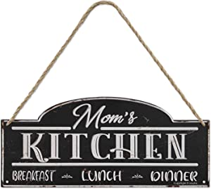 iJoyDo MOM'S Kitchen Metal Sign Rustic Kitchen Decor Vintage Wall Decoration Home Sign 7 x 16 Inch