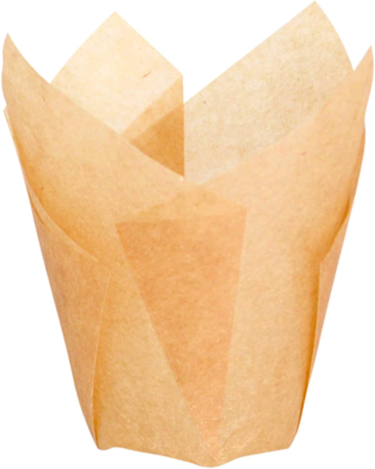"""Tulips Golden Brown Silicone Baking Cup Liner (Case of 1000), PacknWood - Gold/Brown Parchment Paper Cupcake Liners (1.25 oz, 2.5"""" x 1.1"""") 209CPST1M"""