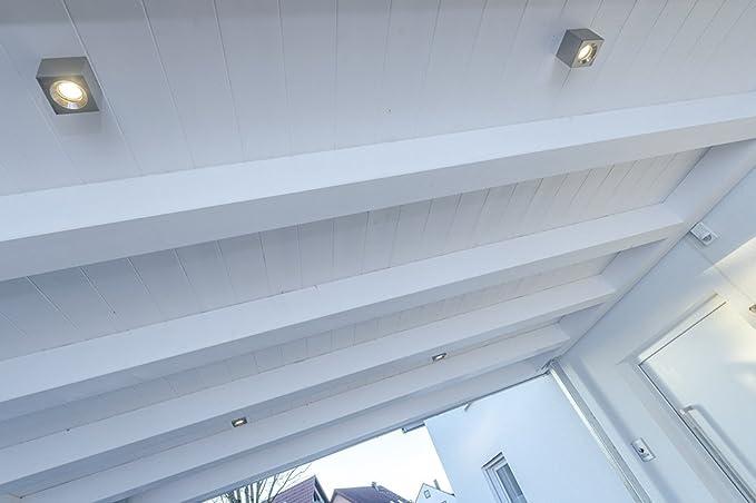 Led Deckenlampe Würfel Edelstahl 240v Gu10 Ip54 Badezimmer Spot ...