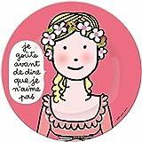 Petit Jour Paris Assiette à Dessert Motif Je Goûte avant Multicolore