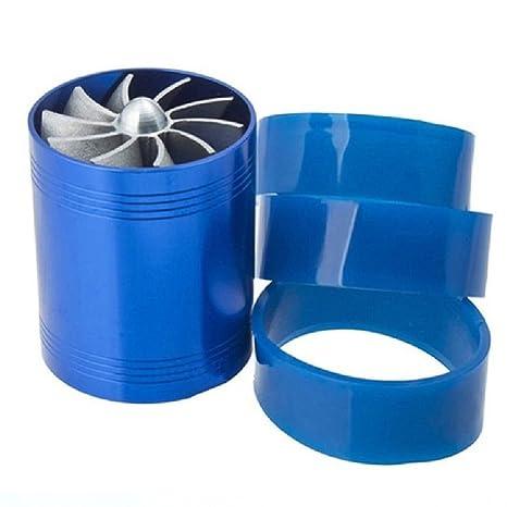 Super potencia doble ventilador turbina cargador de Turbo Supercharger aire Gas Fuel Saver Fan para Universal