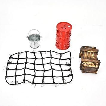 Tbest Red de Equipaje RC, Lata de Aceite Caja de Madera Kit de ...