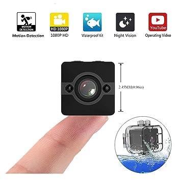 Mini cámara de acción SQ12 Sports HD DV videocámara 1080P de visión nocturna gran angular FOV155 pequeña cámara de vigilancia para el hogar fuera de la ...