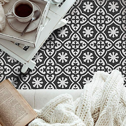 Marlen Tile Stencil - Cement Tile Stencils - DIY Portuguese Tiles - Reusable Stencils for Home Makeover (Large)