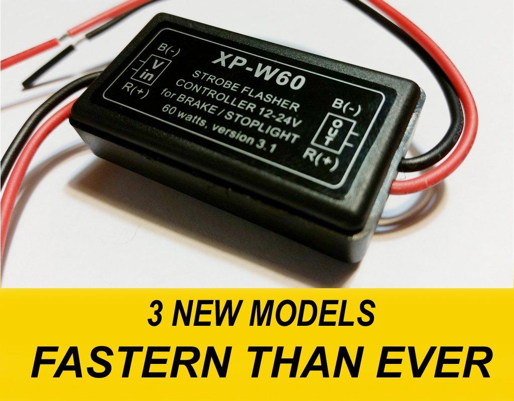 Stop Alert Brake Flasher 60 Watts Led Flash Strobe Super Circuit Diagram Of High Brightness Powerful New Generation Module Tail And Light For Cars Trucks