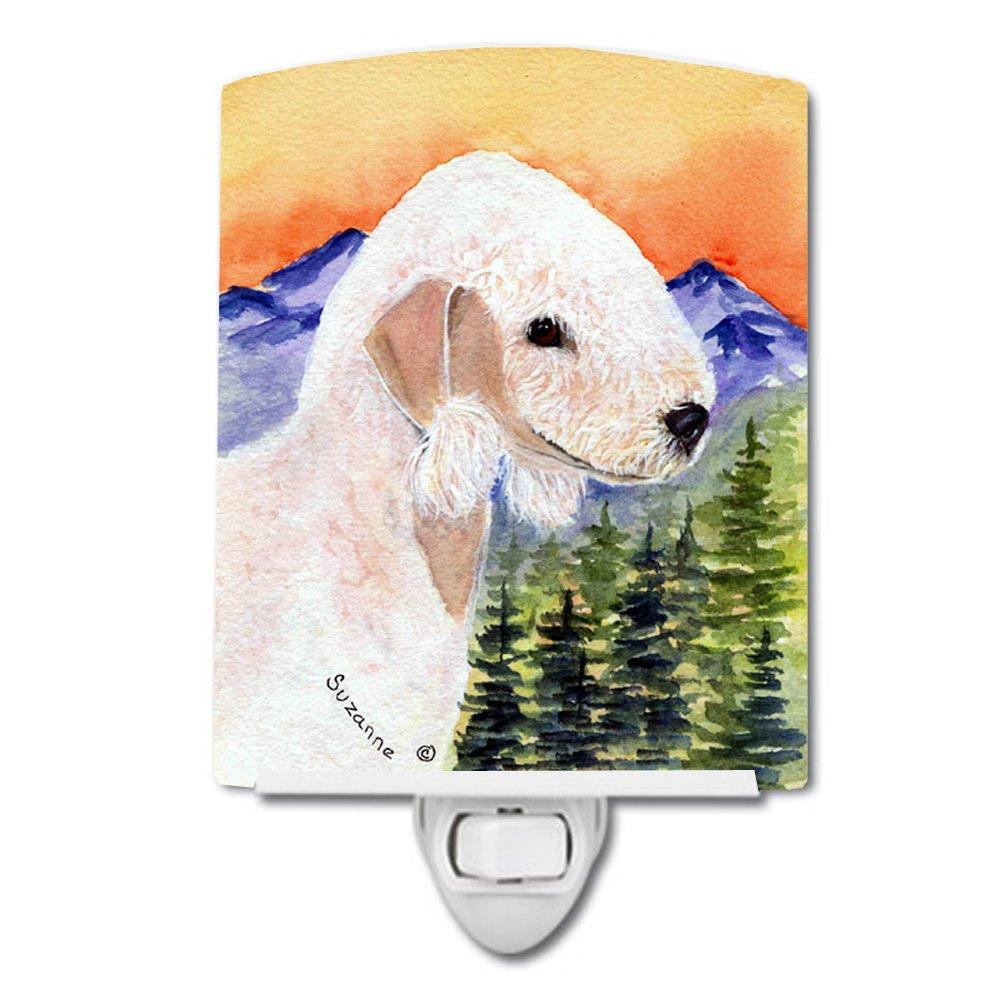 Multicolor Carolines Treasures SS8158CNL Bedlington Terrier Ceramic Night Light 6x4x3