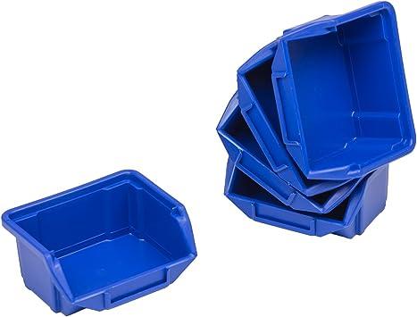60 cajas de almacenaje apilables Cajas de almacenaje apilables Cajas de almacenamiento de plástico PP 90 x 110 x 50 gr, 0 colour azul: Amazon.es: Bricolaje y herramientas