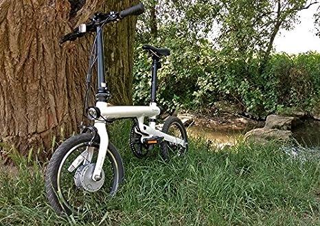 Bicicleta Pedelec Xiaomi Mi de QiCycle, weiß: Amazon.es: Deportes y aire libre