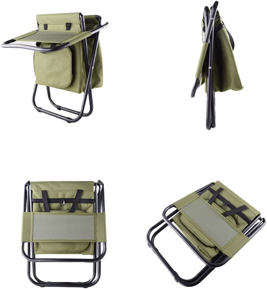 Nadalan Sillas plegables al aire libre sillas de mochila para la pesca de la playa que acampa casa de excursi/ón