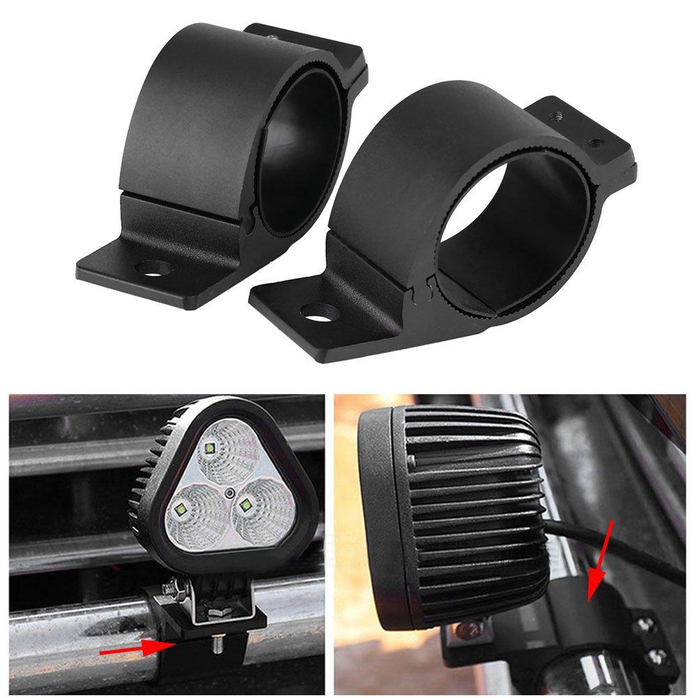 1 par de barra de coche soporte de la luz veh/ículo fuera de carretera luces de la barra toro faro de conducci/ón l/ámpara de montaje abrazaderas 2.5 pulgadas