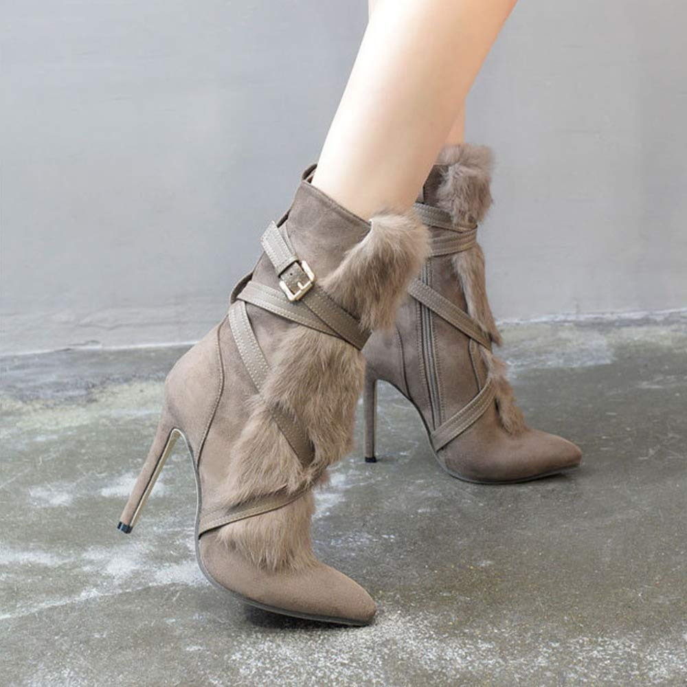 Stivaletti Da Donna Heels Classic Zip Fashion Stivale Da Da Da Donna Stivali Martin 7ca3bc