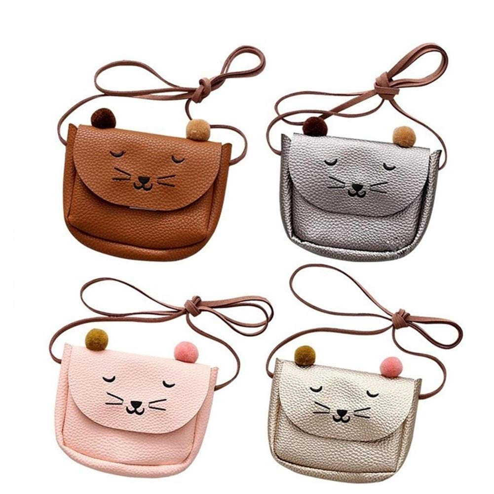 Color : Tender Pink, Size : M ERNANGUA Mini Handbag Cute Cat Ear Shoulder Bag Kids All-Match Key Coin Purse Cartoon Lovely Messenger Bags for Children