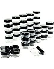 ZEJIA 5 Gram Empty Cosmetic Containers with Lids Makeup Sample Containers BPA Free Travel Small Round Plastic Pot Jars 50PCS