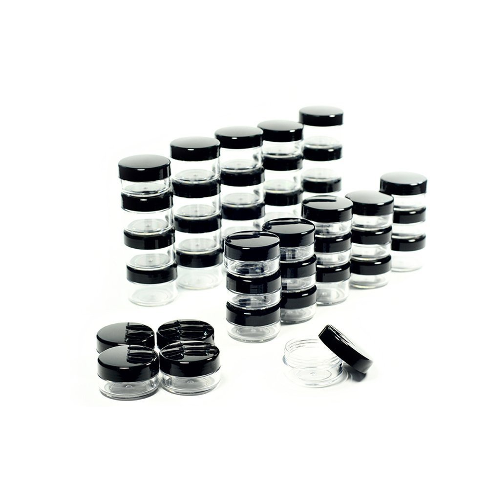 5 Gram Cosmetic Containers 50pcs Sample Jars Tiny Makeup Sample Containers with lids