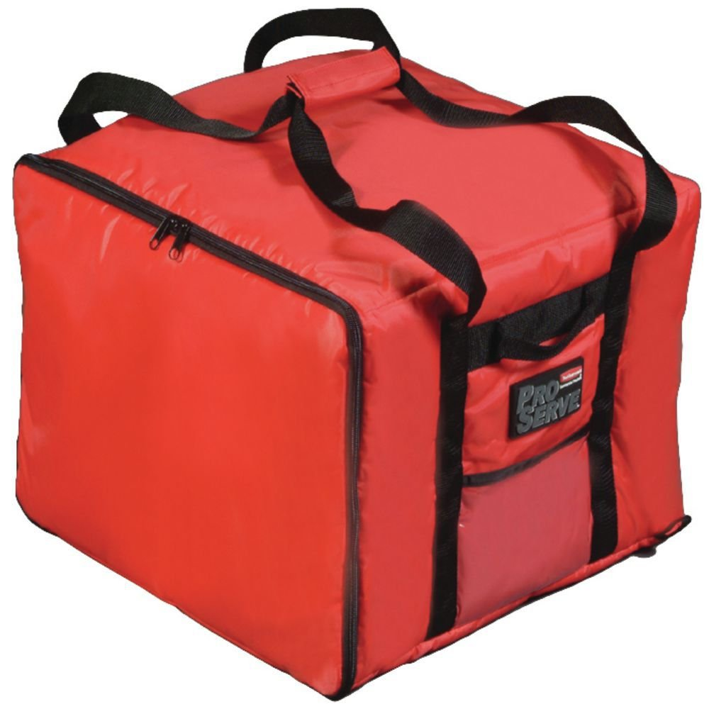 """Rubbermaid ProServe Red Nylon Medium Food Delivery Bag -17""""L x 17""""W x 13""""H"""