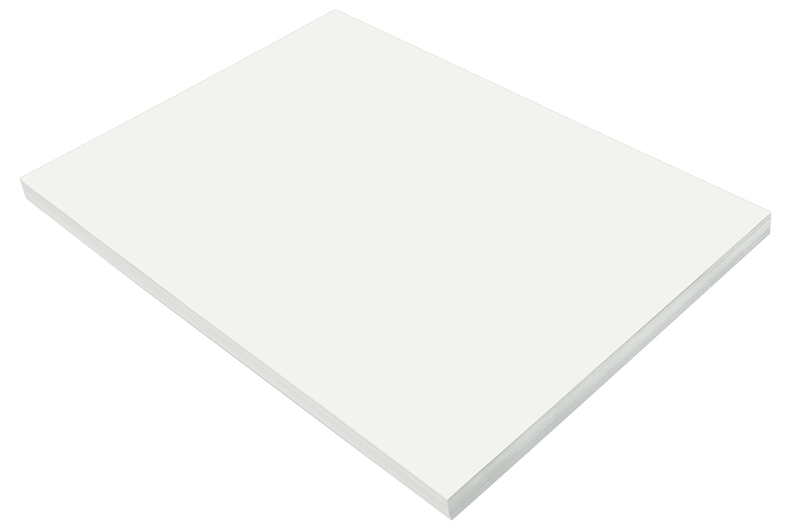 Pacon SunWorks Construction Paper, 18'' x 24'', 100-Count, White (9218)