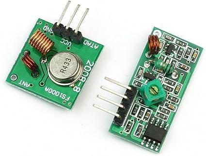 New 5PCS 433 Mhz RF Transmitter /& Receiver Wireless Module Arduino—ZY