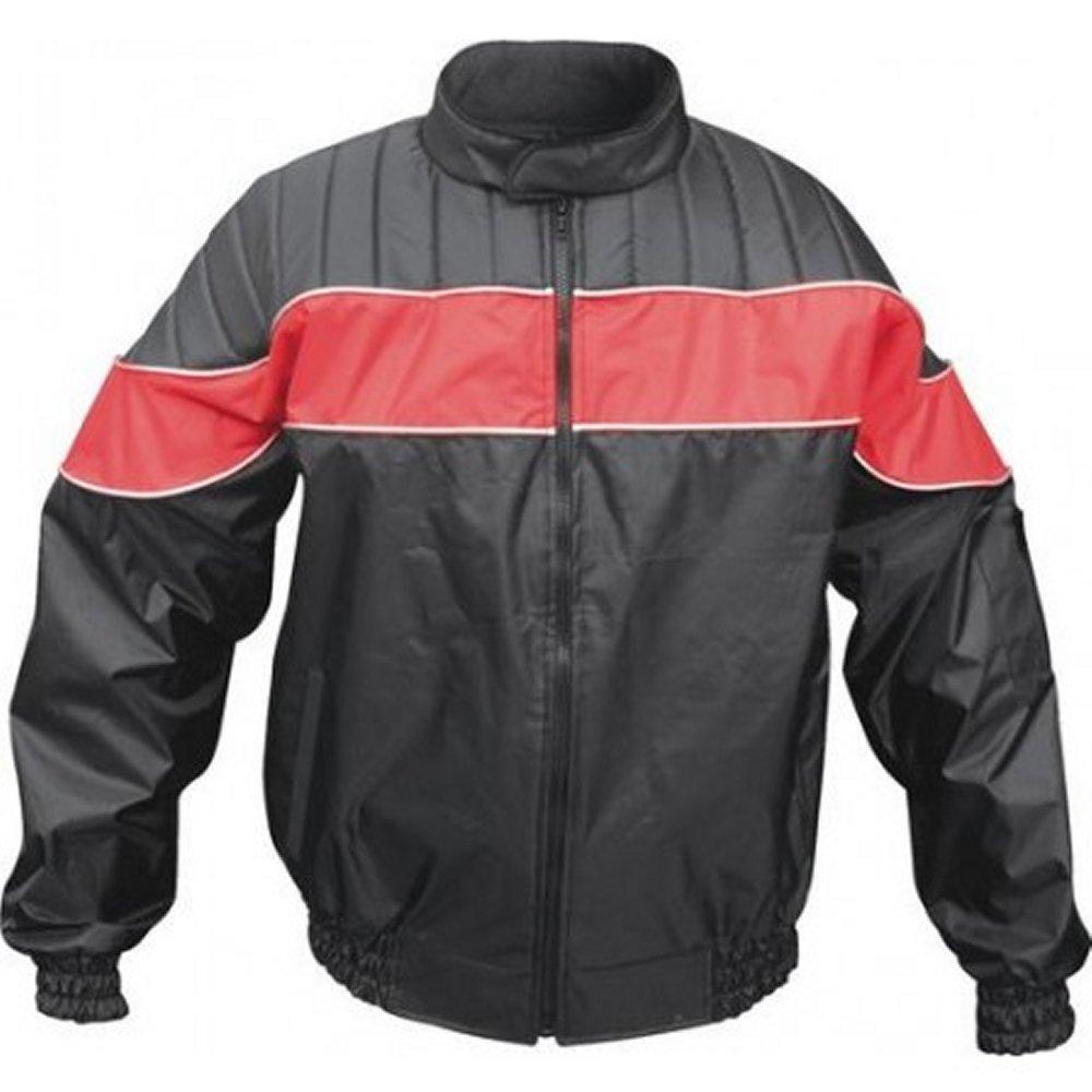 Men's Red/Black Reflective Water Resistant Jacket AL2091 (XL)