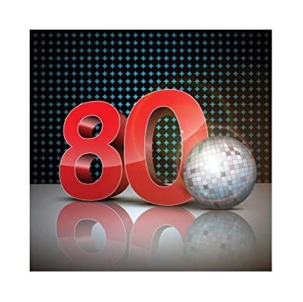 Baocicco 6x6ft 80s Party Backdrop Disco Ball Number 80 Shinny Light Mirror  Ball Photography Background Party Decor Music Party Theme Birthday Party