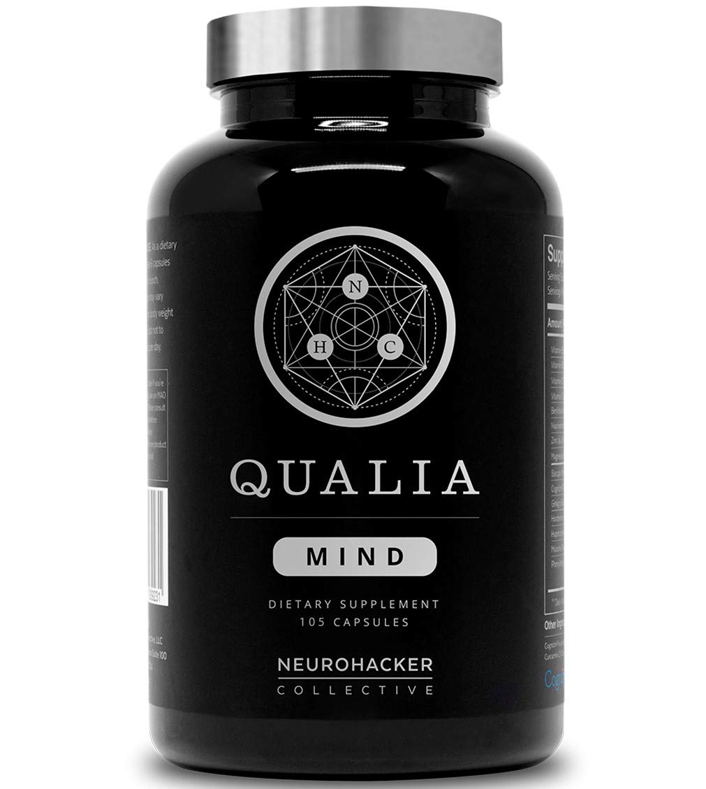 Qualia Mind Nootropics | Top Brain Supplement for Memory, Focus, Mental Energy, and Concentration with Ginkgo biloba, Alpha GPC, Bacopa monnieri, Celastrus paniculatus, DHA & More. (105 Ct)