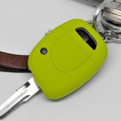 Key Soft Case Cover Housse de Protection clé de Voiture Renault Bouton de la télécommande 1 Télécommande Touche Twingo Clio Kangoo/Couleur: Pomme Verte High-tech
