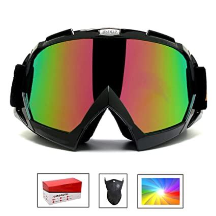 f786d5d9ffbc Feier Yusi Adult Professional Ski Goggles Snowmobile Snowboard Skate Snow  Skiing Goggles with 100% UV400 Protection Bright Lens TPC Frame Material  Anti Sand ...