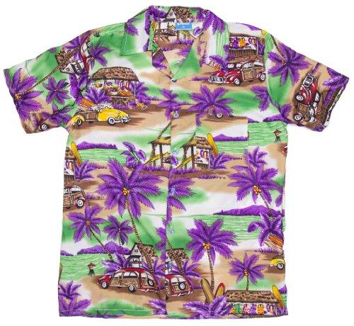 ragstock-mens-classic-car-beach-cabana-hawaiian-aloha-shirt-purple-medium