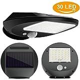 Lumières solaires, sécurité extérieure solaire de 30 LED avec des lumières de mur de détecteur de mouvement, Lumière LED solaire imperméable sans fil à la maison, cour, jardin, escaliers, allée