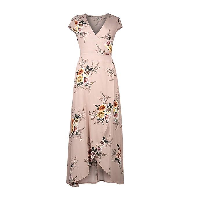 Mujer Vestidos Largos De Verano Casual Vintage Florales Estampados Elegantes V Cuello Vestidos Largos Vestidos Playa