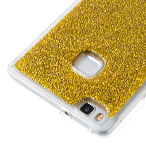 Ultra Housse Etui Lite P9 Brillante Silicone Or Fine Coque Strass Huawei Huawei P9 Luxe Anti de Hut Bling de Coque P9 Bling Protection Paillette Coque Glitter Cozy Lite Lite H pour Choc Huawei pB5g7x
