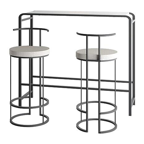 Lxn Simplicidad Moderna Bar Table, Black Pub Dining Table ...