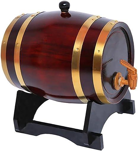 Gazechimp Barril con Grifo de Madera para Cerveza Vino Whisky ...