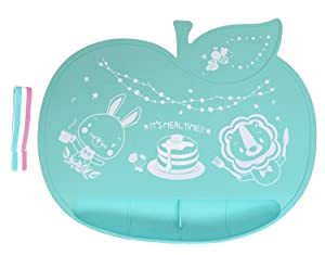 angelette Silicone Placemat for Baby and Toddler, Food Catcher placemat, Non Slip Placemats for Kids, Cute Placemat / 100% Silicone